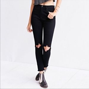 BDG High Rise skinny Grazer heavily distressed